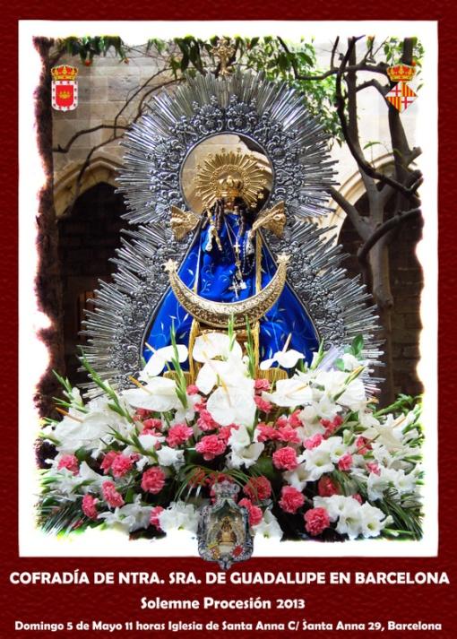 Fiesta y Procesión de la Virgen de Guadalupe en Barcelona